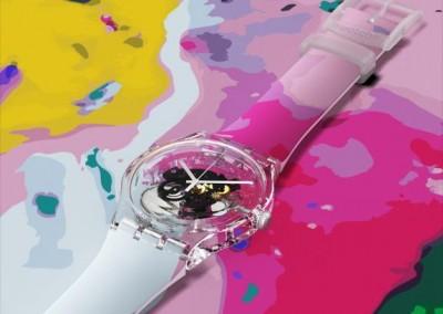Reloj para Swatch. Canvas para Swatch Cities Madrid Festival